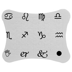Set Of Black Web Dings On White Background Abstract Symbols Jigsaw Puzzle Photo Stand (bow)