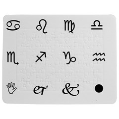 Set Of Black Web Dings On White Background Abstract Symbols Jigsaw Puzzle Photo Stand (rectangular)