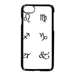 Set Of Black Web Dings On White Background Abstract Symbols Apple Iphone 7 Seamless Case (black)