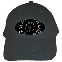 Astrology Chart With Signs And Symbols From The Zodiac Gold Colors Black Cap