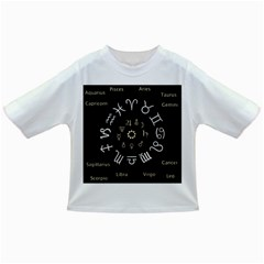 Astrology Chart With Signs And Symbols From The Zodiac Gold Colors Infant/toddler T Shirts