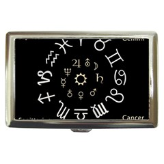 Astrology Chart With Signs And Symbols From The Zodiac Gold Colors Cigarette Money Cases