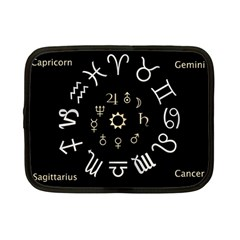 Astrology Chart With Signs And Symbols From The Zodiac Gold Colors Netbook Case (small)