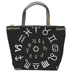 Astrology Chart With Signs And Symbols From The Zodiac Gold Colors Bucket Bags