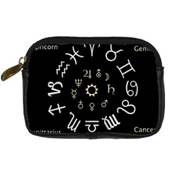 Astrology Chart With Signs And Symbols From The Zodiac Gold Colors Digital Camera Cases
