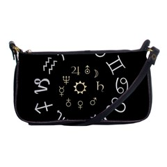 Astrology Chart With Signs And Symbols From The Zodiac Gold Colors Shoulder Clutch Bags