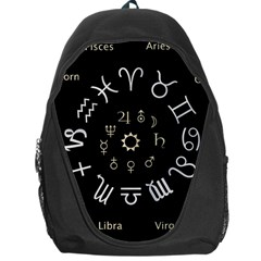 Astrology Chart With Signs And Symbols From The Zodiac Gold Colors Backpack Bag