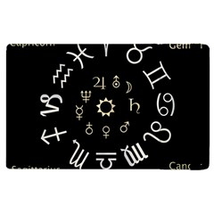 Astrology Chart With Signs And Symbols From The Zodiac Gold Colors Apple Ipad 3/4 Flip Case