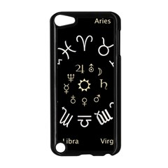 Astrology Chart With Signs And Symbols From The Zodiac Gold Colors Apple Ipod Touch 5 Case (black)