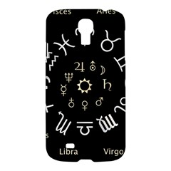 Astrology Chart With Signs And Symbols From The Zodiac Gold Colors Samsung Galaxy S4 I9500/i9505 Hardshell Case