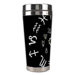 Astrology Chart With Signs And Symbols From The Zodiac Gold Colors Stainless Steel Travel Tumblers