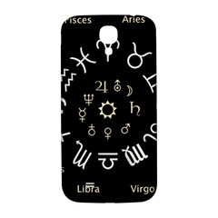 Astrology Chart With Signs And Symbols From The Zodiac Gold Colors Samsung Galaxy S4 I9500/i9505  Hardshell Back Case