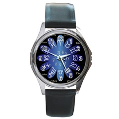Astrology Birth Signs Chart Round Metal Watch