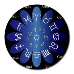 Astrology Birth Signs Chart Round Mousepads