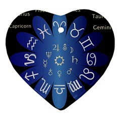 Astrology Birth Signs Chart Ornament (heart)