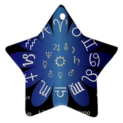 Astrology Birth Signs Chart Ornament (star)