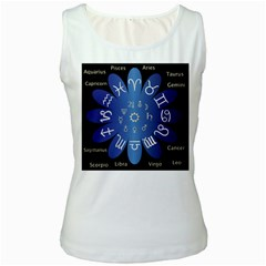Astrology Birth Signs Chart Women s White Tank Top