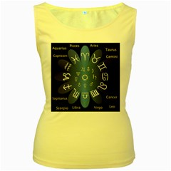 Astrology Birth Signs Chart Women s Yellow Tank Top