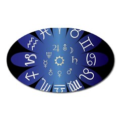 Astrology Birth Signs Chart Oval Magnet