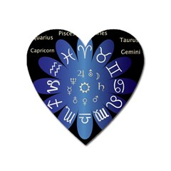 Astrology Birth Signs Chart Heart Magnet