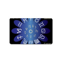 Astrology Birth Signs Chart Magnet (name Card)