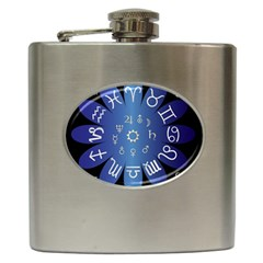 Astrology Birth Signs Chart Hip Flask (6 Oz)