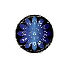 Astrology Birth Signs Chart Hat Clip Ball Marker (4 Pack)