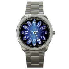 Astrology Birth Signs Chart Sport Metal Watch