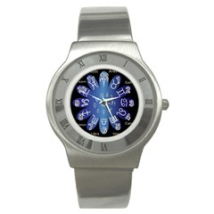 Astrology Birth Signs Chart Stainless Steel Watch