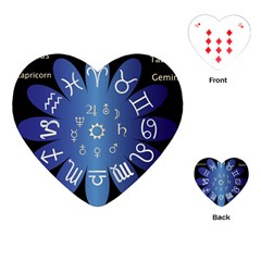 Astrology Birth Signs Chart Playing Cards (heart)