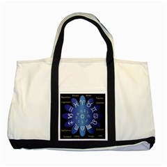 Astrology Birth Signs Chart Two Tone Tote Bag