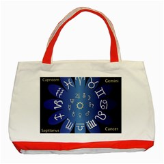 Astrology Birth Signs Chart Classic Tote Bag (red)