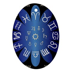 Astrology Birth Signs Chart Oval Ornament (two Sides)