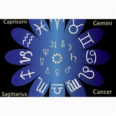 Astrology Birth Signs Chart Canvas 12  x 18