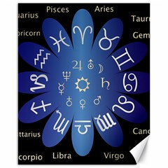 Astrology Birth Signs Chart Canvas 16  X 20