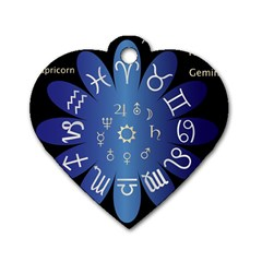 Astrology Birth Signs Chart Dog Tag Heart (one Side)