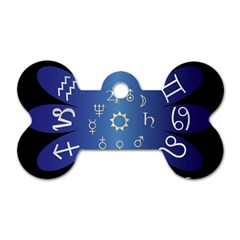 Astrology Birth Signs Chart Dog Tag Bone (one Side)