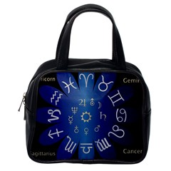 Astrology Birth Signs Chart Classic Handbags (one Side)