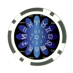 Astrology Birth Signs Chart Poker Chip Card Guard (10 Pack)