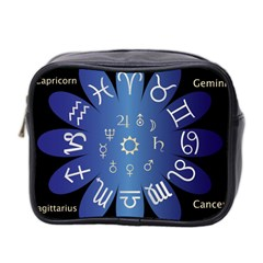 Astrology Birth Signs Chart Mini Toiletries Bag 2 Side