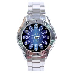 Astrology Birth Signs Chart Stainless Steel Analogue Watch