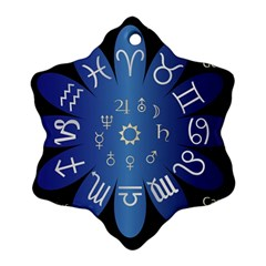 Astrology Birth Signs Chart Snowflake Ornament (two Sides)