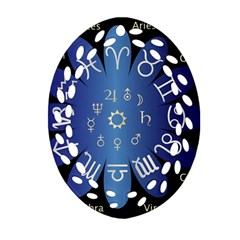 Astrology Birth Signs Chart Ornament (oval Filigree)