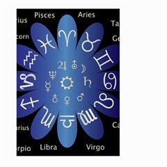 Astrology Birth Signs Chart Large Garden Flag (two Sides)