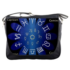Astrology Birth Signs Chart Messenger Bags