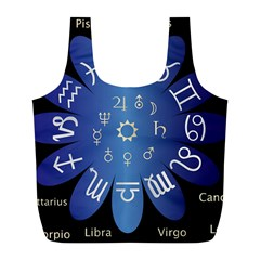 Astrology Birth Signs Chart Full Print Recycle Bags (l)