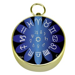 Astrology Birth Signs Chart Gold Compasses