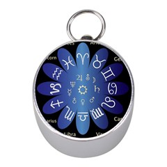Astrology Birth Signs Chart Mini Silver Compasses