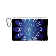 Astrology Birth Signs Chart Canvas Cosmetic Bag (s)