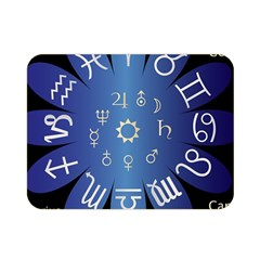 Astrology Birth Signs Chart Double Sided Flano Blanket (Mini)
